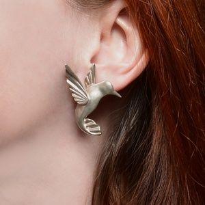 Jewelry - Silver hummingbird earrings